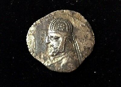 Rare Parthian Persia Shah Orodes I Silver Drachm Coin Over 2,000 years old