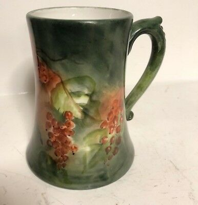 Antique Signed J.p.l Limoges France Jean Pouyat 1890-1932 Hand Painted Mug Stein