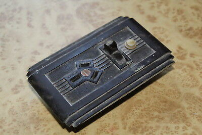 Classic Art Deco BAKELITE TOGGLE POWER SWITCH Ring Grip Aust Vintage Electrical