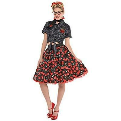 Amscan Rockabilly Skirt - Size Medium