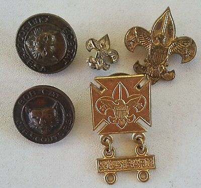 Vintage Boy Scouts of America Pins 3xBoy Scouts America 2xBobcats