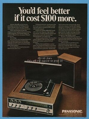 1970 Panasonic Princeton SG-999 FET Turntable AM/FM Radio Stereo PHOTO Print Ad