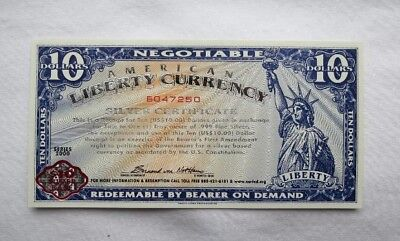 RARE Norfed $10 American Liberty Currency Silver Certificates BU