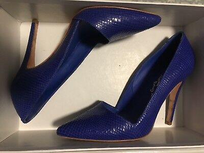 cf5121eeb29a ... Heels Size 38 US 7.5 Navy Blue Pointed Toe Dorsay.