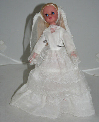 Vintage Wedding Dress French Clone Fits Sindy Tammy Susi Also Barbie No Doll
