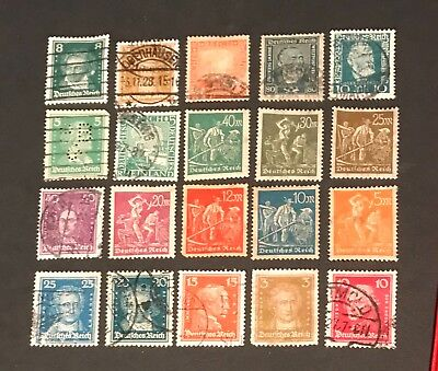 Germany postage stamps lot of 20 old.            No