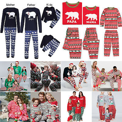 Christmas Family Matching Pyjamas Set Adult Kids Xmas Nightwear Pajamas PJs Sets