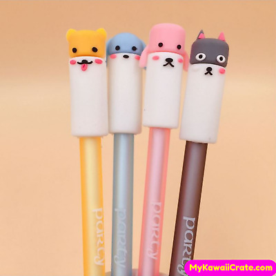 4x Cute Dog Party Gel Pens ~ Dog Pens, Dog Lover Gift, Stationery Planner Pen