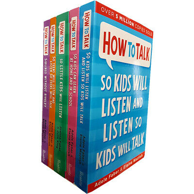 How to Talk series so Kids Will Listen Can Learn 5 Books Collection Set NEW
