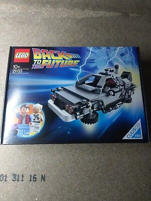 LEGO Ideas Back to the Future Time Machine (21103) Shield spelling mistake RARE
