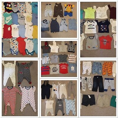 Huge Baby Boys Age 0/3 Months Clothes Bundle 80 Items Ted Baker Nike Gap M&S