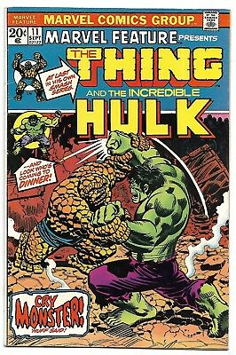 MARVEL FEATURE 11 - VERY FINE - BRONZE AGE CLASSIC - JIM STARLIN THING Vs HULK