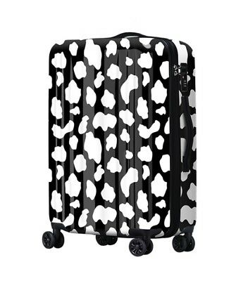 D420 Lock Universal Wheel White Spot ABS+PC Travel Suitcase Luggage 24 Inches W