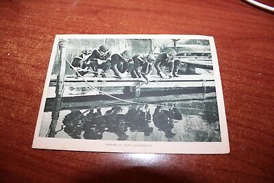 WWII WORLD WAR II POSTCARD GERMAN HJ marine  third reich