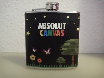 Absolut Vodka Canvas Flask Topper with Canvas Tag, only 1200 pieces