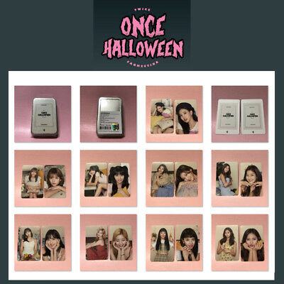 TWICE Official PHOTOCARD SET Fan Meeting ONCE HALLOWEEN Goods Photo Card 18pcs