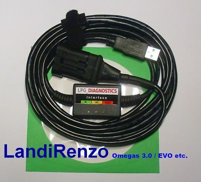 Landi-Renzo Omegas 3.0,EVO LPG GPL Diagnose Kabel USB INTERFACE+Software/Manuals