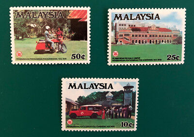 3 x 1978 Malaysia stamps - Unused - Postal Administrations Conference
