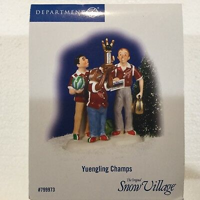 Dept 56 Snow Village® YUENGLING CHAMPS -  BRAND NEW SEALED
