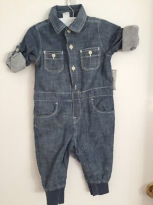 Baby gap Unisex Denim Look Playsuit 6-12months BNWT