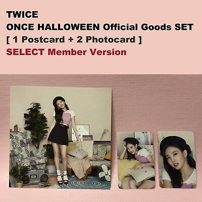 TWICE Official PHOTOCARD + POSTCARD SET Fan Meeting ONCE HALLOWEEN Goods Select