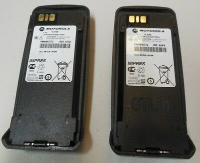 LOT OF 2 -Motorola OEM Li-Ion High Cap Impres Battery PMNN4077C XPR6550 XPR6350