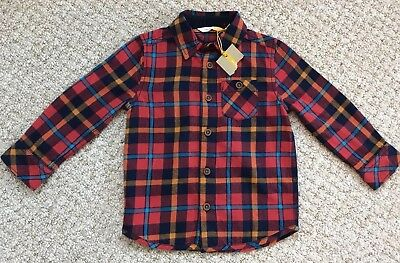 John Lewis Boys Checked Shirt, Age 3, New With Tag