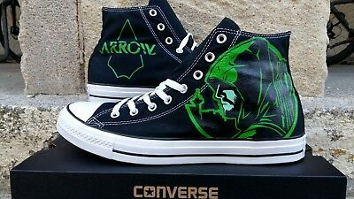 f8df524a8c77 Green Arrow - Converse All Stars Custom Hand Painted Canvas Sneakers ~ US  Custom