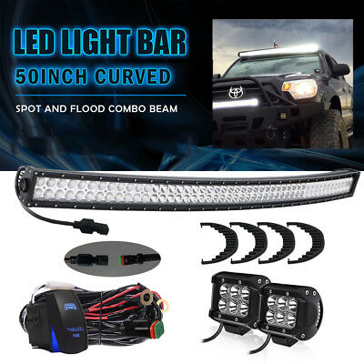 50 Inch 288W CURVED LED Light Bar Work Offroad Truck Boat SUV ATV Fit Ford Jeep