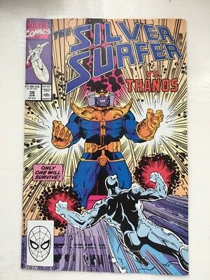 The SILVER SURFER 38 - NM..1990....Marvel Comics....Thanos