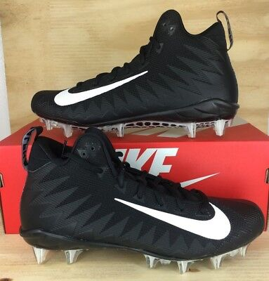 Nike Alpha Menace Pro Mid Black Football Cleats Mens Sz 13 *NIB* 871451-003