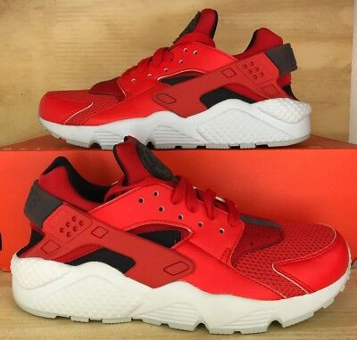 best service 1c7d0 bd67e New Nike Men s Air Huarache Running Shoes (318429-609) Habanero Red White SZ