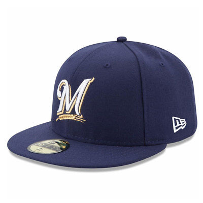 Milwaukee Brewers Licenced 59FIFTY MLB New Era Fitted Cap - size 7 1/4