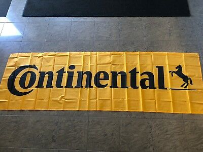 CONTINENTAL TIRES BANNER, 9.75 feet x 3 feet; NEW AND UNUSED