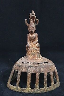 Antique 17th burmese ava buddha story bronze burma shan naga