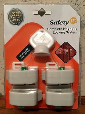 Safety 1st Complete Magnetic Cabinet Locking System 4 Locks 1 Key Protect Baby
