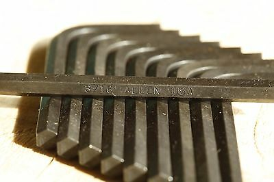 Lot Of 10 Allen 3/16 L-Wrench Short Arm New Old Stock Nos Made In Usa Hex Key