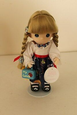 """Precious Moments Soft Doll: 9"""" First Day of School (Always My Little Girl) #1566"""