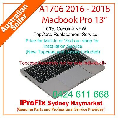 "NEW Keyboard For Apple Macbook Pro 13"" Touch Bar A1706 2016-2018 Topcase"