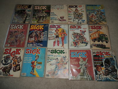 Lot of 15 Vintage Sick Comedy  Magazines