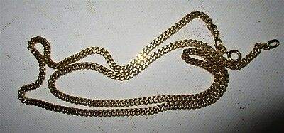 """Vintage 18K Solid 20 Gr Yellow Gold 750 Balestra Italy 20"""" Curb Chain Heavy!"""