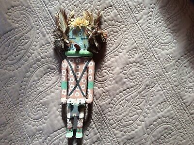 Rarely Carved Hopi Old Style Spotted Corn Katsina Kachina by Clark Tenekhongva
