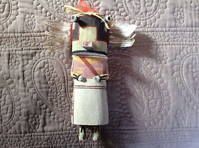 Hopi Carved Old Style Hooli Katsina Kachina by Cordell Naseyoma