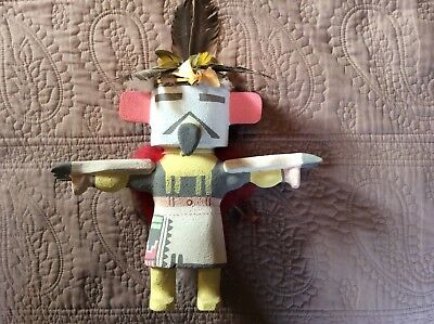 Hopi Carved Eagle Katsina Kachina by Master Carver Chester Poleyestewa
