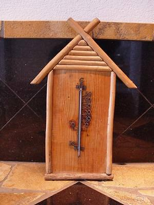 altes ANALOG Thermometer vintage Wintergarten Terrasse Blockhaus