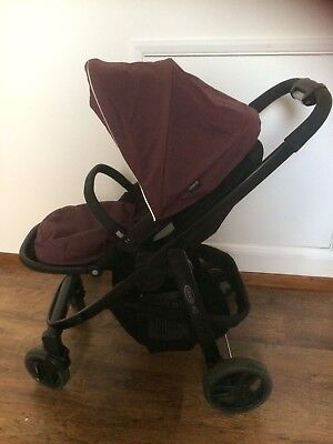 Graco Evo Complete Travel System-Plum Colour-Mothercare-Inc Car Seat, Carrycot.