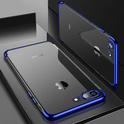 Luxury Ultra Slim Shockproof Silicone Clear Case Cover for iPhone 8 Plus