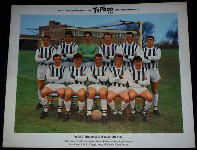 West Bromwich F.C. team large Typhoo card