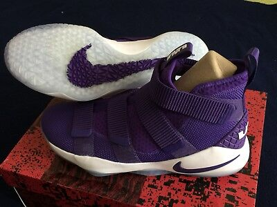 new concept d4d59 bb837 ... real nike lebron soldier 11 xl tb promo size 12.5 shoes mens lakers  purple 943155 500