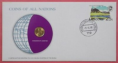 Dr Who Coins Of All Nations  1980 With Genuine Lesotho Coin &  17585